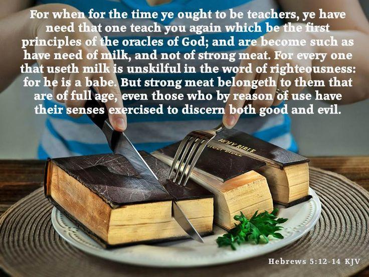Hebrews 5:12-14 KJV