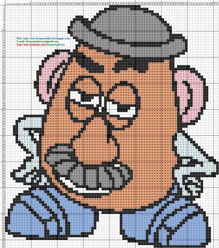 Mr. Potato Toy Story hama perler beads pattern - Dibujos Punto de Cruz