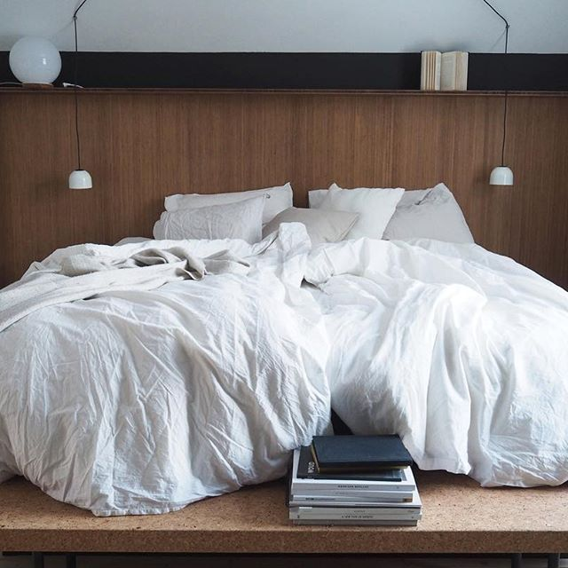 Happy Friday and feels so good to know we have another few days with late mornings and lots of time together | #bamboo #headboard #madebyus #custommade