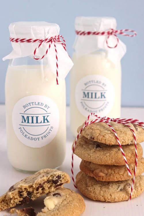 milkMilk N Cookies, Candles Gift Packaging, Wedding Gift, Gift Ideas, Sweets Treats, Food, Milk Bottle Bakers Twine, Pretty Packaging, Milk Cookies