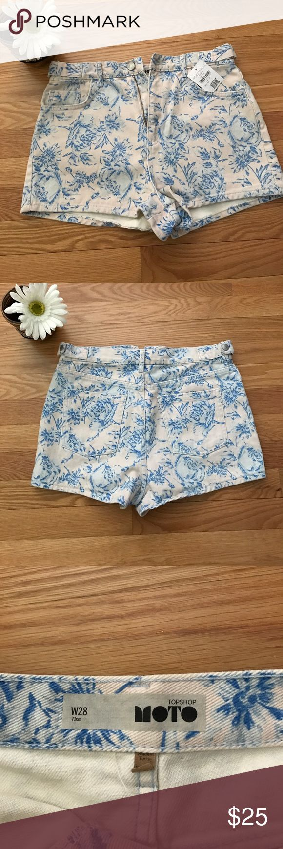 High Waisted Topshop Shorts SIZE 28 High waisted floral shorts SIZE 28 in women's! Bought from Topshop at Nordstrom's! NEVERWORN, tag is still on item! These shorts are perfect for a nice summer day at the beach, or pair it with a funky top for a music festival! MUST HAVE Topshop Shorts Jean Shorts