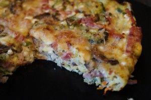grøntsagstærte med grøntsagsbund