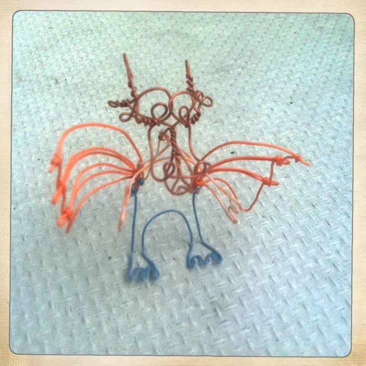 Dragon, electric wire, Ida Exner 2011