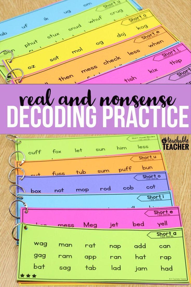 reading nonsense words fluency activities