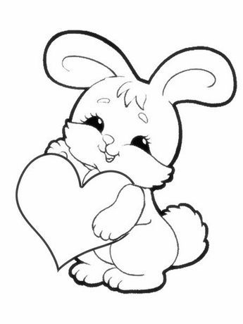 raskraska1 (453x604, 70Kb) | Bunny coloring pages ...