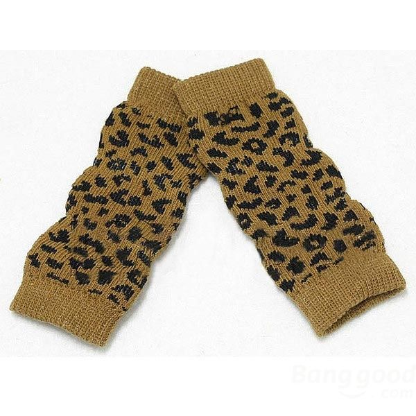 Knitting Pattern For Dog Socks : Pet Dog Leopard Pattern Cotton-Knitted Warm Kneelet Ankle Socks Leopard pat...