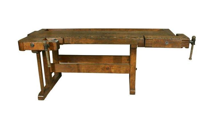 Antique Woodworking Workbench 2