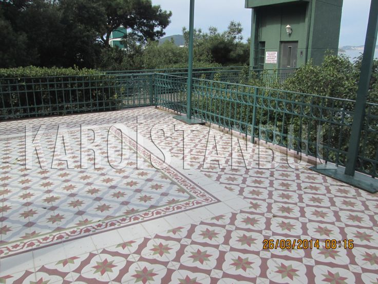 Buyukada clubhouse gardens and floor was made by Karoistanbul.
