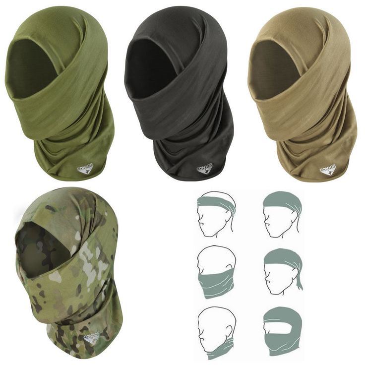 Condor 212 Multi Wrap Anti Static Moisture Wick Bandanna Balaclava Ski Face Mask in Hats & Headwear | eBay