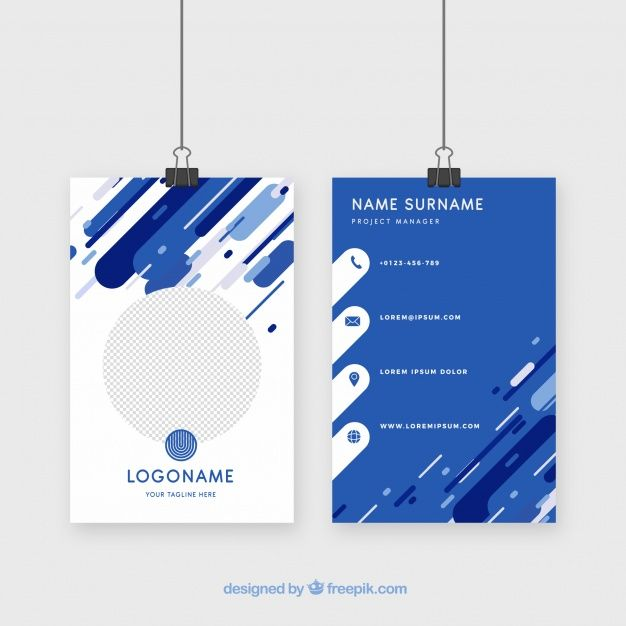 Id Card Template Vector Business Card Name Card Design Identity Card Design
