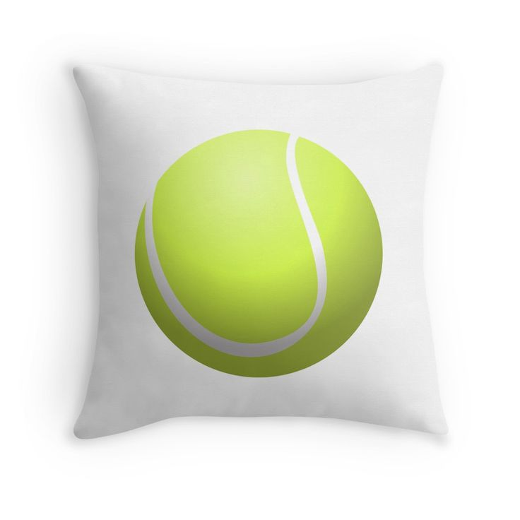 If you love playing and watching Tennis, then you will love this Tennis Ball throw pillow.