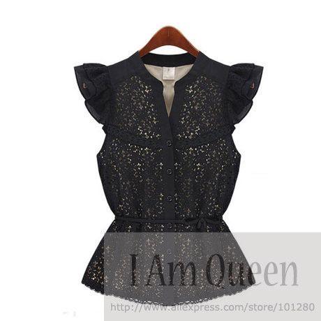 на складе 2014 новых круёевные блузки женщин весна лето конструкция кружево рубашки с коротким рукавом блузка рубашка топы t004 купить на AliExpress