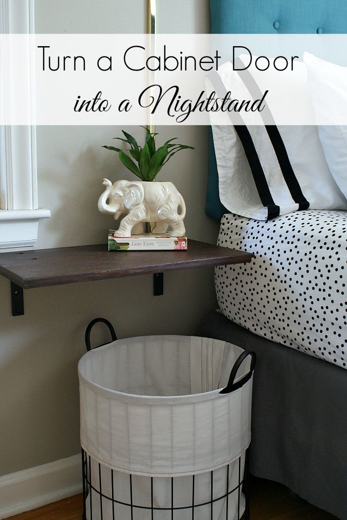 DIY floating nightstand shelf - So simple!