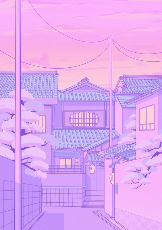 aesthetic pastel purple wallpapers backgrounds anime japanese pink kawaii elora pautrat japan girly iphone điện nền hinh thoại pretty