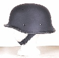 German Helmets - DOT German Helmet Flat Black German - Carbon Fiber DOT Approved Big German Motorcycle Helmet