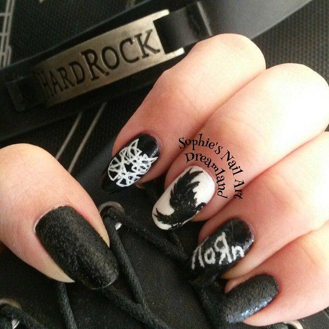 #nailartaddict #nailsofinstagram #instanails #korn #disturbed  #hollywoodundead #huarmy #nailart - 19 Best Heavy Metal Nails Images On Pinterest Heavy Metal