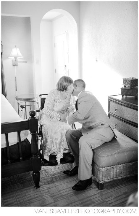 A loving moment on your big day.  Destination Wedding | El Conquistador Resort & Las Casitas Village | Puerto Rico | ElConResort.com   Vanessa Velez Photography