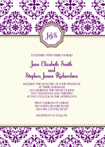 A website with free downloadable templates for designing your own invitations and whatnot.  We're planning on designing the save-the-dates or announcements and invitations ourselves