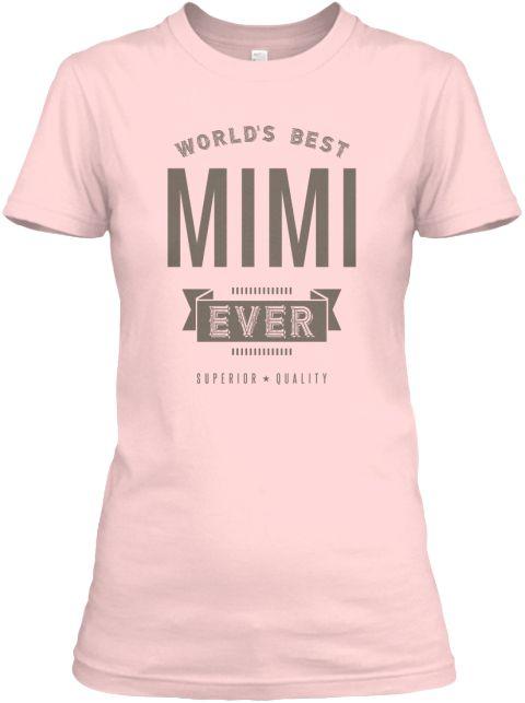 Worlds Best Mimi Ever Light Pink Women's T-Shirt Front