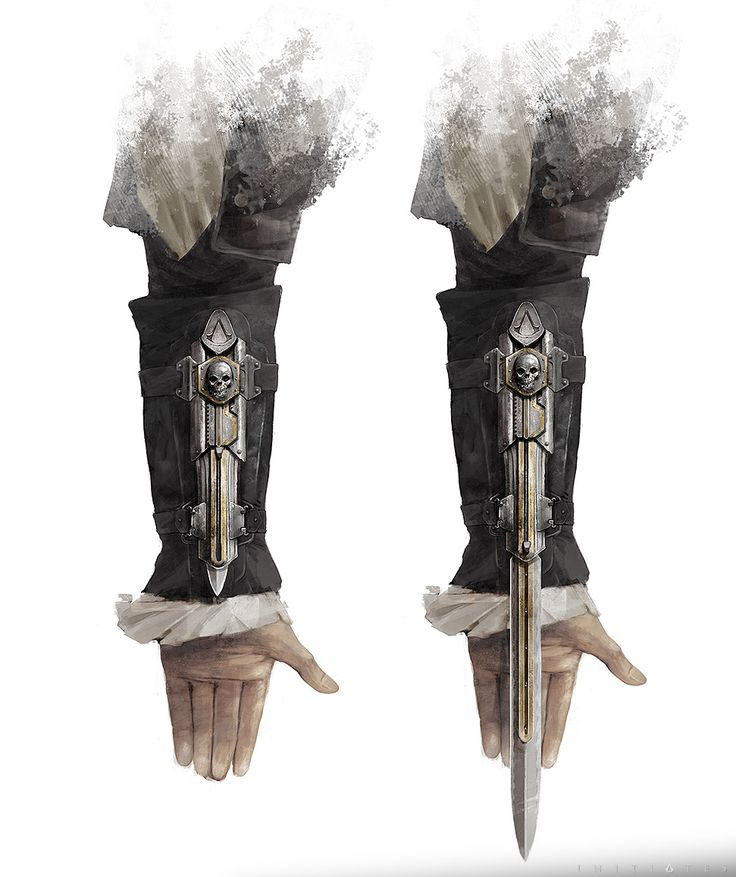 Concept art of Edward Kenway's Hidden Blade