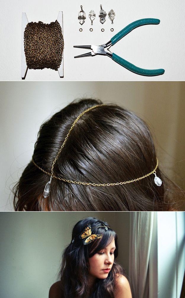Bohemian Crystal Head Chain | 47 Gorgeous Wedding HeadpieceIdeas