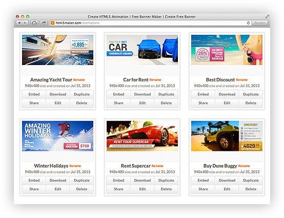 Create HTML5 Animation | Free Banner Maker | Create Free Banner