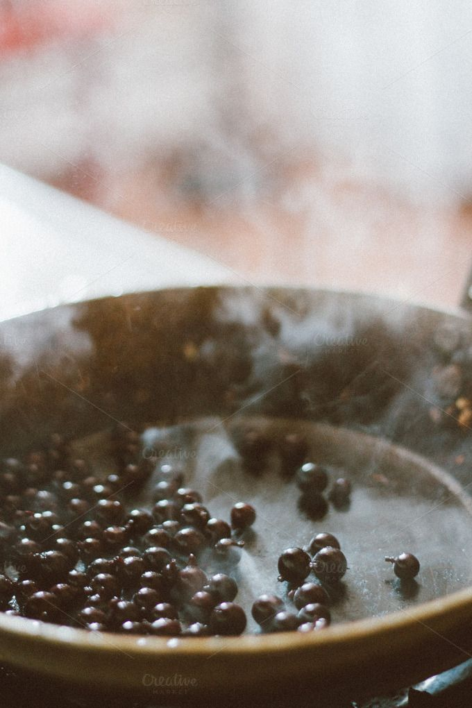 Blueberries in Frying Pan by Sean Berrigan Photography on Creative Market