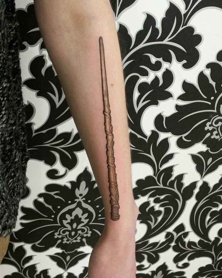 Best 25 wand tattoo ideas on pinterest for Black gold tattoo