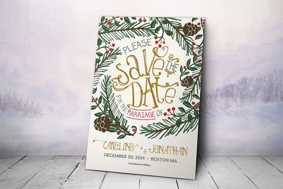 Zorg ervoor dat gasten reserveren uw trouwdatum kerst tijdens de drukte van het seizoen met deze winter Save the Date kaart ontwerp. Een scherp oog voor detail en een mooi design schitterend in pijnboomtakken en holly maakt dit de datum kaart opslaan een unieke optie voor aankondiging van uw aanstaande bruiloft. Aangepast op maat volgens uw specificaties, al uw bruiloft dag informatie en de namen van het echtpaar zal worden toegevoegd in glorieus detail. Geef uw gasten een extra reden om te…