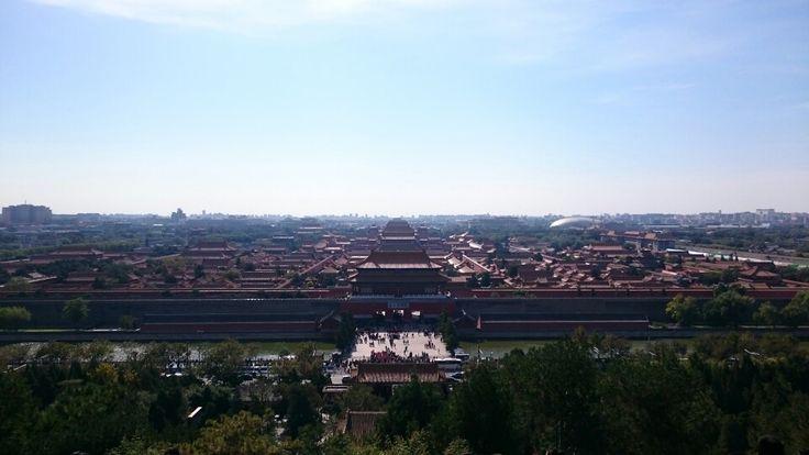 景山公園から、故宮博物院をのぞむ