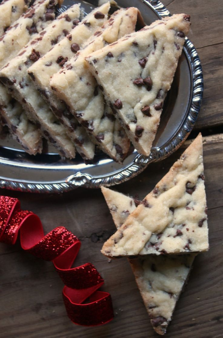 Chocolate Chip Shortbread cookies made with mini chocolate chips are a wonderful addition to your holiday baking or anytime of the year.