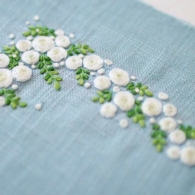 More rose embroidery