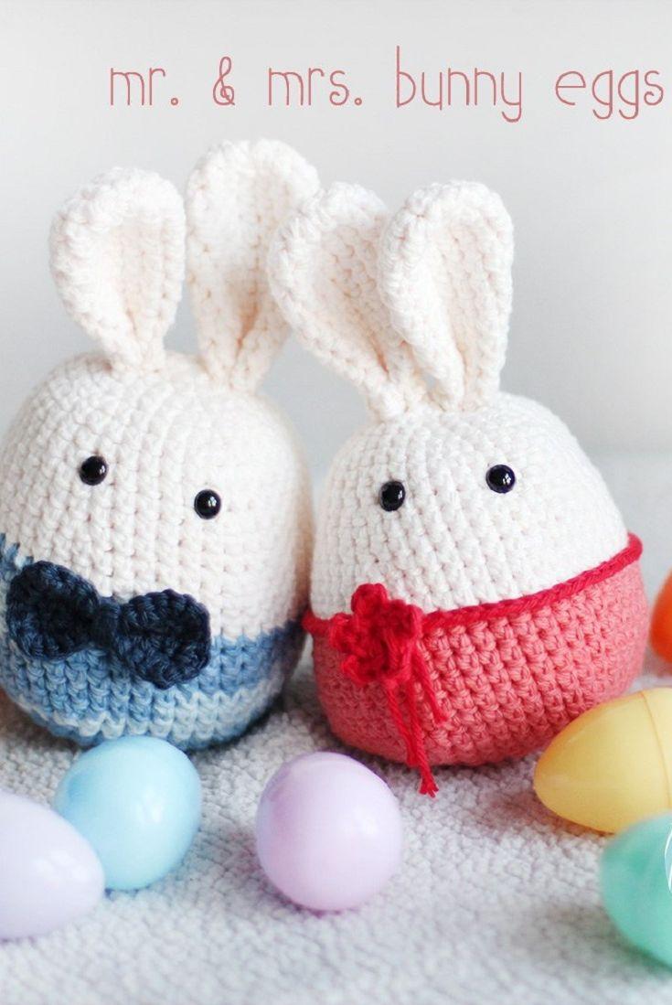 Mr. & Mrs. Bunny Eggs Crochet Pattern