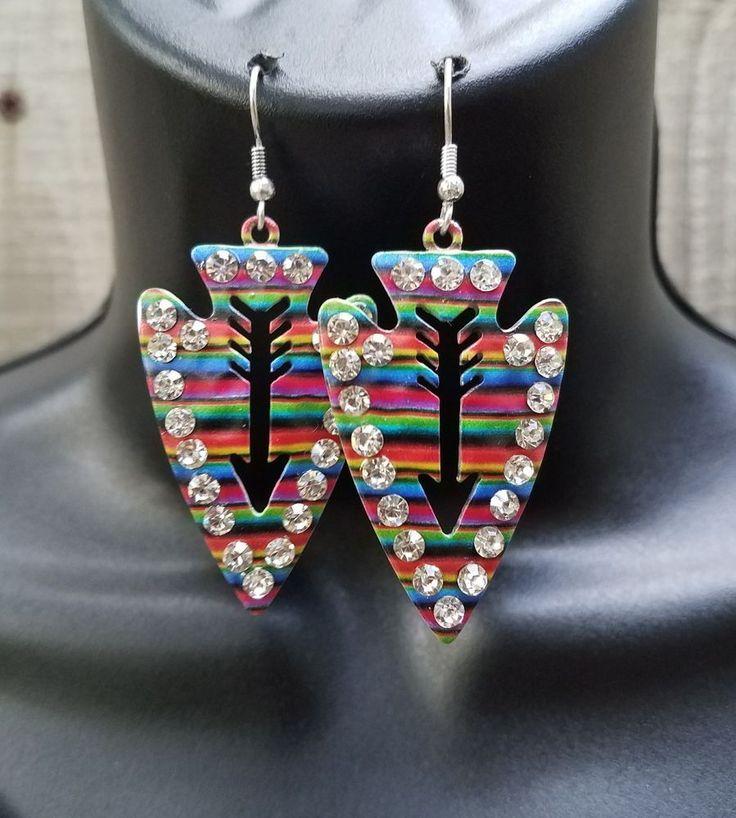 Cowgirl Gypsy Arrow head SERAPE EARRINGS  Southwestern Rodeo western  | Jewelry & Watches, Fashion Jewelry, Earrings | eBay!