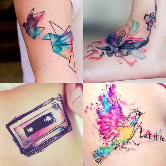 tatuagens aquarela, por Depois dos Quinze