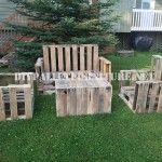 Pallet Möbel für den Garten