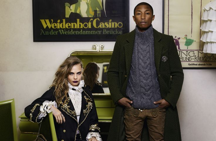Pharrell, Cara, and Hudson for Chanel Métiers D'Art, photographed by Mr. Lagerfeld