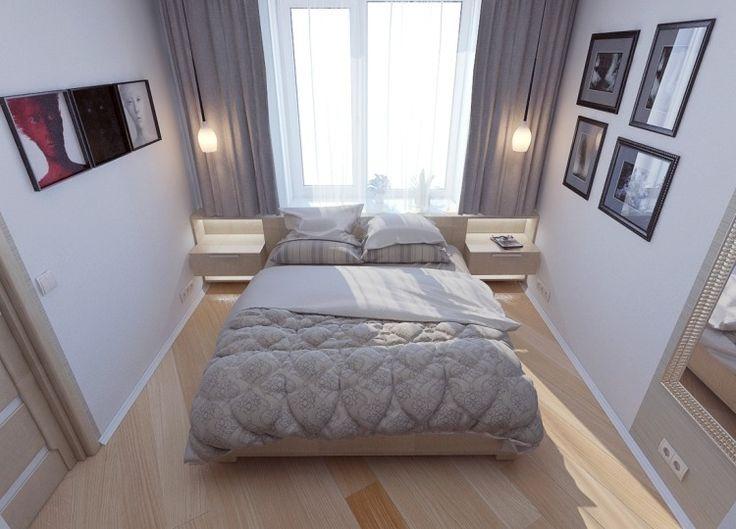 heller Laminatboden und Deko in Grau und Weiß fürs Schlafzimmer