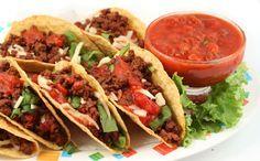 Vandaag staat op het menu: gevulde taco's met salsa. Ook lekker met gegrilde witlof. Eet smakelijk!