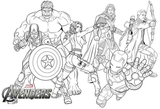 New Avengers Endgame Coloring Page For Marvel Fans Avengers