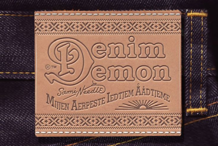 Denim-Demon #leatherlabel #denimlabel #ataklabel #derietiket #patches #sewon #kotetiketi #ataketiket