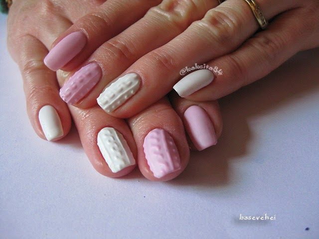 baseveheinails: Manicure Hybrydowy - 3D Cable Knit Sweater - Sweterek - Semilac 056, 001