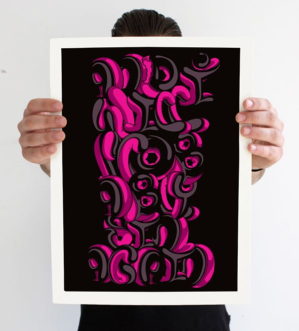 The Art of Illustrated Type Vol. 1 on Behance