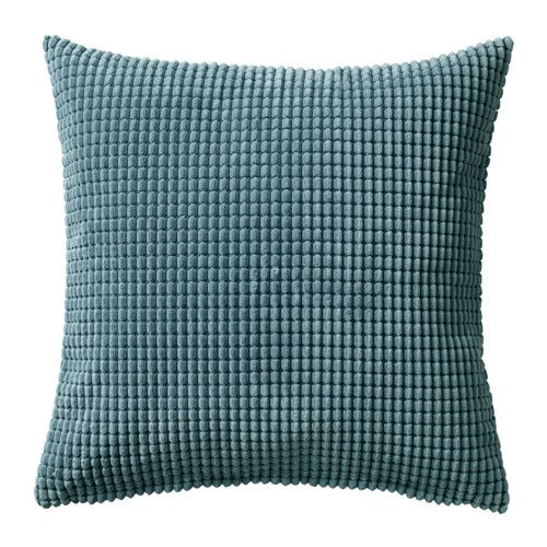 IKEA GULLKLOCKA Cushion cover Blue-grey 50x50 cm Chenille fabric feels ultra soft against your skin.