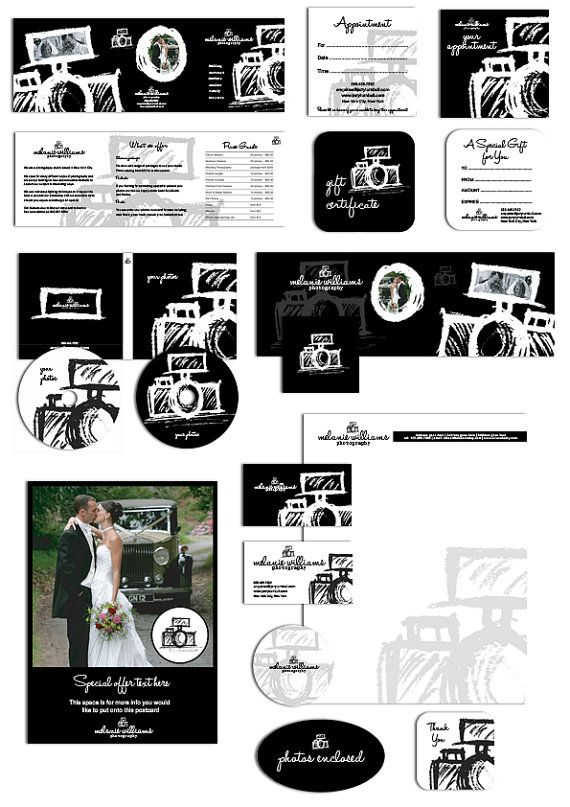 26 Pc. Photography business forms kit and by AquariusLogos on Etsy, $58.00