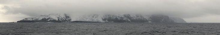 Picture showing the west coast of Bouvet Island.Credit to François Guerraz