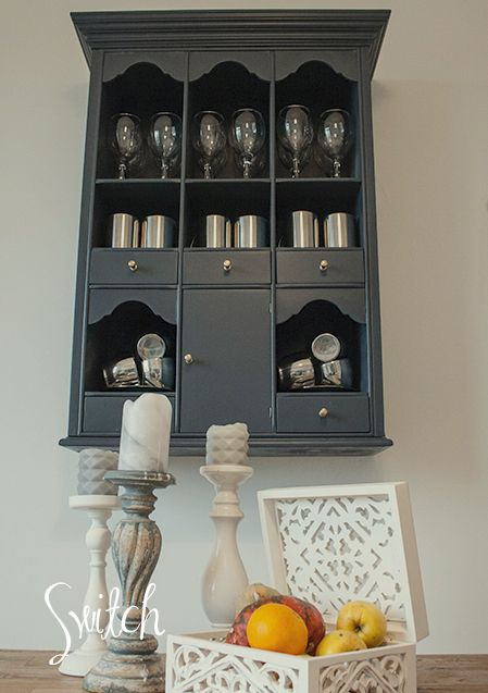 Upcycled old wall cabinet.