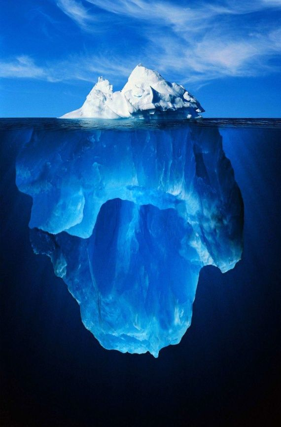 What you see on the surface is only a glimpse of what's really under the surface.
