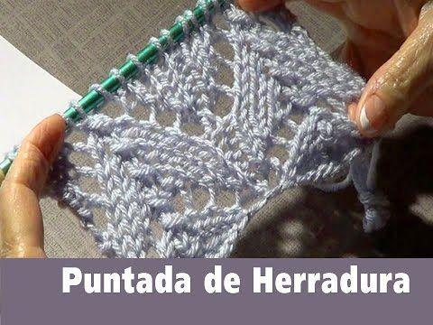 Puntada Tejida de Herradura Encaje - Video en Español. Aprenda a tejer una puntada muy bonita tipo encaje.