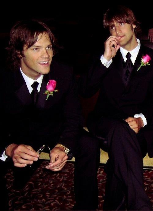 Jared and Jeff Padalecki.....reminder Jared is the shorter one in this picture